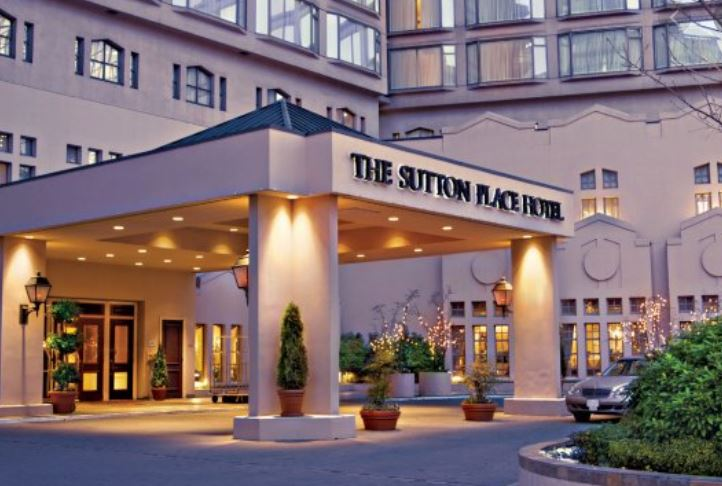 The Sutton Place Hotel Vancouver.